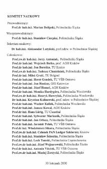 Komitet Naukowy ; Komitet Organizacyjny