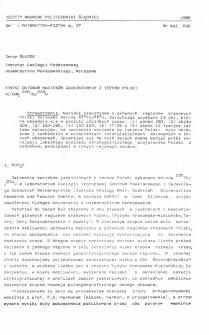 Wyniki datowań nacieków jaskiniowych z terenu Polski metodą 230Th/234U