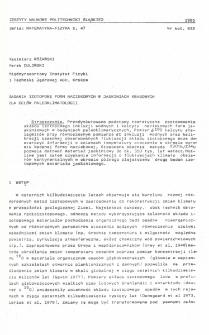 Badania izotopowe form naciekowych w jaskiniach krasowych dla celów paleoklimatologii