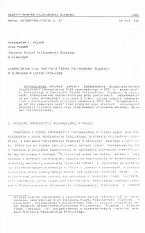 Laboratorium C-14 Instytutu Fizyki Politechniki Śląskiej w Gliwicach w latach 1971-1982