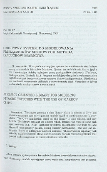 Obiektowy system do modelowania przełączników sieciowych metodą łańcuchów Markowa