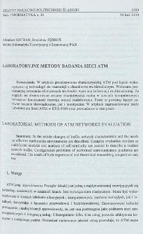 Laboratoryjne metody badania sieci ATM
