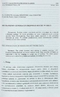 Mechanizmy generacji zbędnego ruchu w sieci