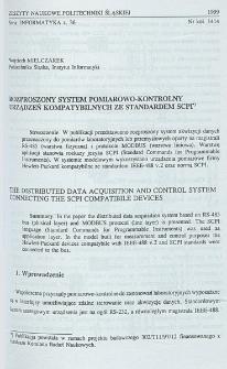 Rozproszony system pomiarowo-kontrolny urządzeń kompatybilnych ze standardem SCPI