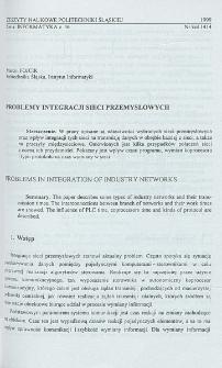 Problemy integracji sieci przemysłowych