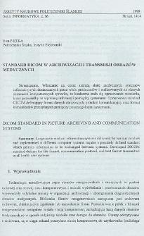 Standard DICOM w archiwizacji i transmisji obrazów medycznych