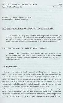 Transmisja bezprzewodowa w standardzie IrDA