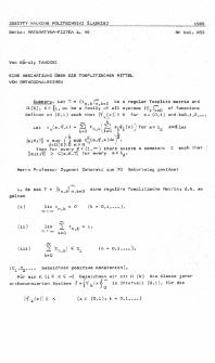 Eine Abschätzung über die Toeplitzschen Mittel von orthogonalreihen