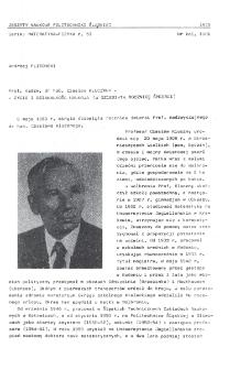 Prof. nadzw. dr hab. Czesław Kluczny - życie i działalność naukowa (w dziesiątą rocznicę śmierci)