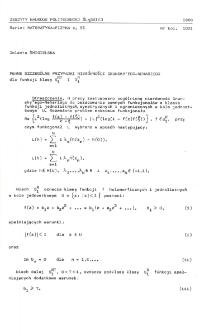 Pewne szczególne przypadki nierówności Grunsky'ego - Nehariego dla funkcji klasy S1RT i S1R