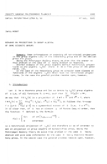 Remarks on projections in group algebra of some discrete groups