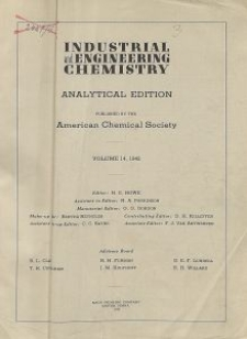 Industrial and Engineering Chemistry : analytical edition, Vol. 14, No. 5