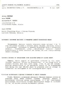 Datowania izotopowe nacieków z wybranych jaskiń Słowackiego Krasu