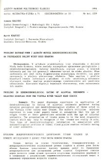 Problemy datowań form i aluwiów metodą dendrochronologiczną na przykładzie doliny Wisły koło Krakowa