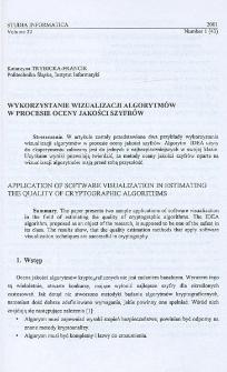 Wykorzystanie wizualizacji algorytmów w procesie oceny jakości szyfrów