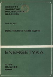 Badania dyfuzyjnych palników gazowych