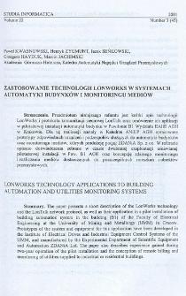 Zastosowanie technologii LonWorks w systemach automatyki budynków i monitoringu mediów