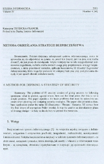 Metoda określania strategii bezpieczeństwa