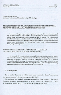 The symmetry of transformations of the Maxwell and two-terminal capacitance matrices