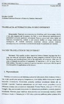 Translacja automatyczna w sieci Internet