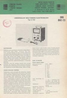Elektroniczne mierniki laboratoryjne