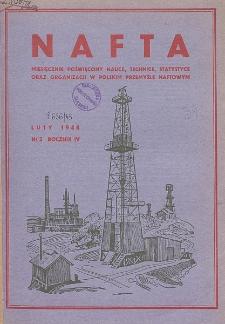Nafta : miesięcznik poświęcony nauce, technice, statystyce oraz organizacji w polskim przemyśle naftowym, R. 4, Nr 2