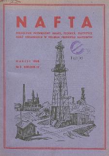 Nafta : miesięcznik poświęcony nauce, technice, statystyce oraz organizacji w polskim przemyśle naftowym, R. 4, Nr 3
