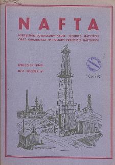 Nafta : miesięcznik poświęcony nauce, technice, statystyce oraz organizacji w polskim przemyśle naftowym, R. 4, Nr 4