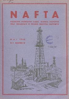 Nafta : miesięcznik poświęcony nauce, technice, statystyce oraz organizacji w polskim przemyśle naftowym, R. 4, Nr 5