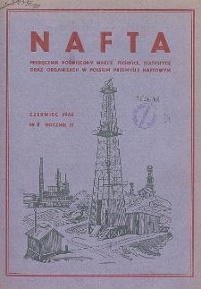 Nafta : miesięcznik poświęcony nauce, technice, statystyce oraz organizacji w polskim przemyśle naftowym, R. 4, Nr 6