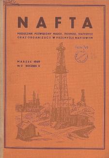 Nafta : miesięcznik poświęcony nauce, technice, statystyce oraz organizacji w polskim przemyśle naftowym, R. 5, Nr 3
