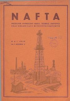 Nafta : miesięcznik poświęcony nauce, technice, statystyce oraz organizacji w polskim przemyśle naftowym, R. 5, Nr 5