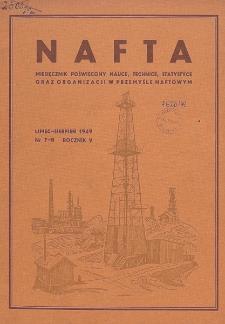 Nafta : miesięcznik poświęcony nauce, technice, statystyce oraz organizacji w polskim przemyśle naftowym, R. 5, Nr 7 - 8