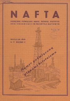 Nafta : miesięcznik poświęcony nauce, technice, statystyce oraz organizacji w polskim przemyśle naftowym, R. 5, Nr 9