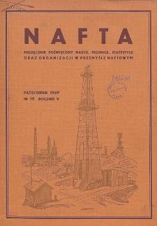 Nafta : miesięcznik poświęcony nauce, technice, statystyce oraz organizacji w polskim przemyśle naftowym, R. 5, Nr 10