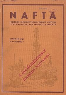 Nafta : miesięcznik poświęcony nauce, technice, statystyce oraz organizacji w polskim przemyśle naftowym, R. 5, Nr 12