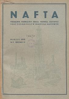 Nafta : miesięcznik poświęcony nauce, technice, statystyce oraz organizacji w polskim przemyśle naftowym, R. 6, Nr 3
