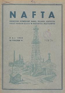 Nafta : miesięcznik poświęcony nauce, technice, statystyce oraz organizacji w polskim przemyśle naftowym, R. 6, Nr 5