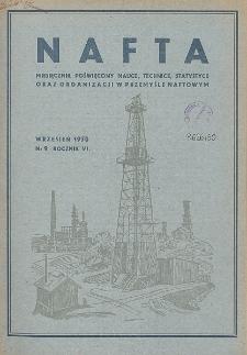 Nafta : miesięcznik poświęcony nauce, technice, statystyce oraz organizacji w polskim przemyśle naftowym, R. 6, Nr 9