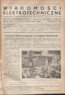 Wiadomości Elektrotechniczne, R. 9, Zeszyt 2-3