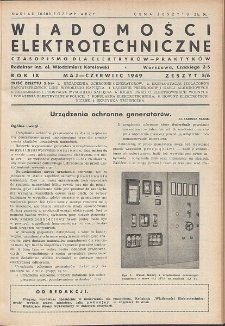 Wiadomości Elektrotechniczne, R. 9, Zeszyt 5-6