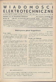 Wiadomości Elektrotechniczne, R. 9, Zeszyt 7-8-9
