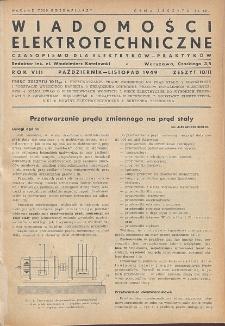 Wiadomości Elektrotechniczne, R. 9, Zeszyt 10-11