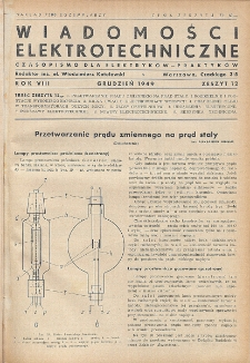 Wiadomości Elektrotechniczne, R. 9, Zeszyt 12