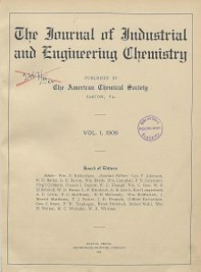 The Journal of Industrial and Engineering Chemistry, Vol. 1, Subject Index