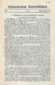 Chemisches Zentralblatt : vollständiges Repertorium für alle Zweige der reinen und angewandten Chemie, Jg. 119, Erg.-Bd. 3, Nr. 10