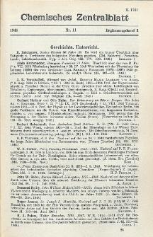 Chemisches Zentralblatt : vollständiges Repertorium für alle Zweige der reinen und angewandten Chemie, Jg. 119, Erg.-Bd. 3, Nr. 11
