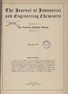 The Journal of Industrial and Engineering Chemistry, Vol. 3, Subject Index