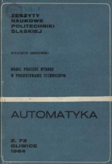 Model procesu wyboru w projektowaniu technicznym