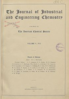The Journal of Industrial and Engineering Chemistry, Vol. 5, No. 10